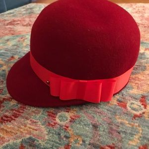 Ted Baker Red Wool Hat